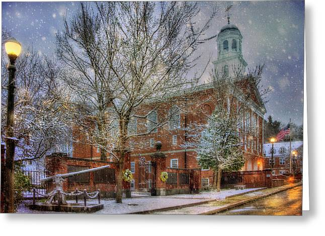 Snowy New England Morning In Peterborough New Hampshire Greeting Card by Joann Vitali