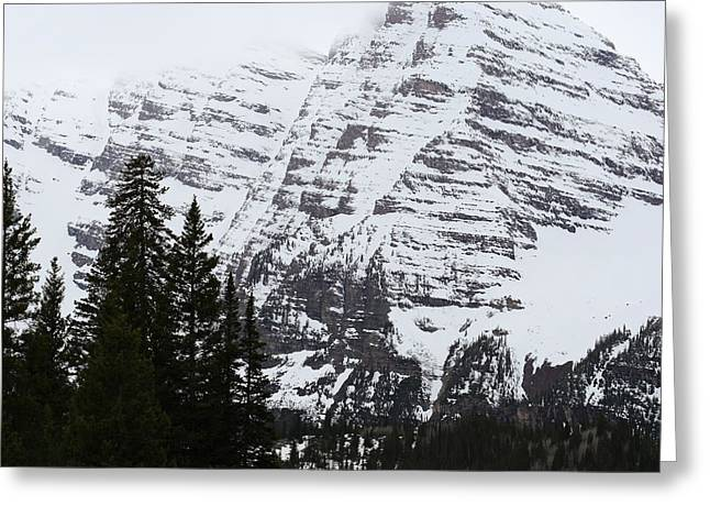 White River Greeting Cards - Snowy Striations Greeting Card by Eric Glaser