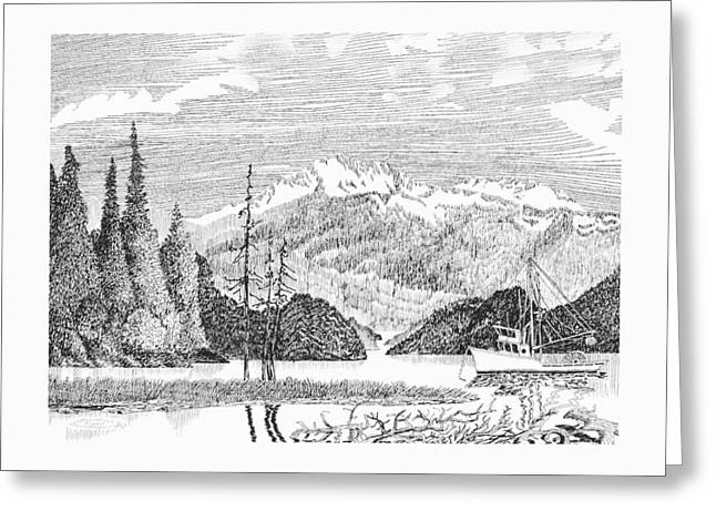 Alaskan Snug Harbor Anchorage Greeting Card by Jack Pumphrey