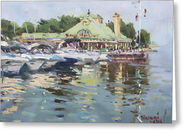 Snug Harbour Mississauga On Greeting Card by Ylli Haruni