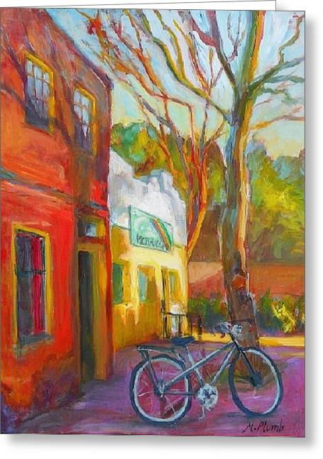 Counterculture Paintings Greeting Cards - So Eugene Greeting Card by Margaret  Plumb