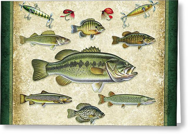 So Many Fish Sign Greeting Card by JQ Licensing
