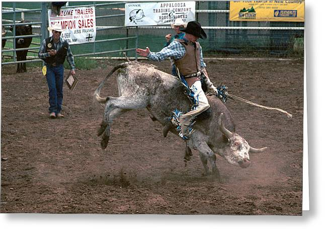 Bull Riding Greeting Cards - So Much Bull Greeting Card by Jerry McElroy