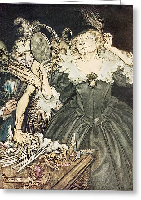 They Greeting Cards - So Perfect is their Misery Greeting Card by Arthur Rackham