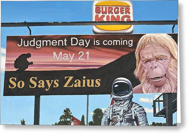 Planet Paintings Greeting Cards - So Says Zaius Greeting Card by Scott Listfield