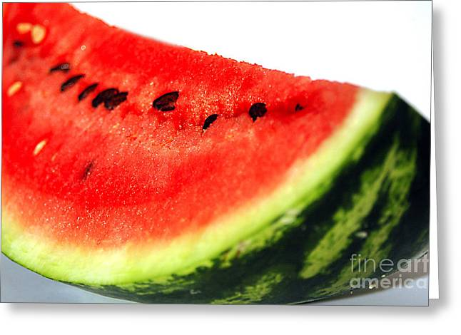 Watermelon Photographs Greeting Cards - So Sweet Greeting Card by Deborah MacQuarrie