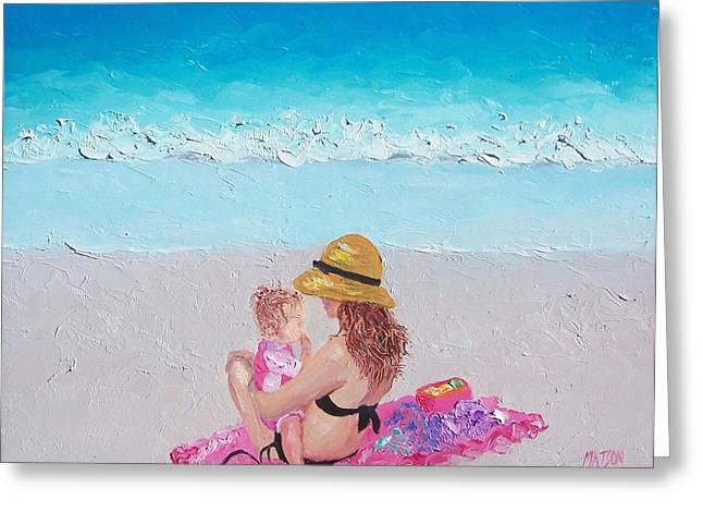 Daughter Gift Greeting Cards - Soaking up the Sun Greeting Card by Jan Matson