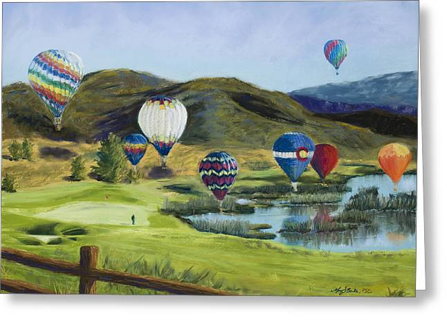 Vibrant Pastels Greeting Cards - Soaring Over Colorado Greeting Card by Mary Benke