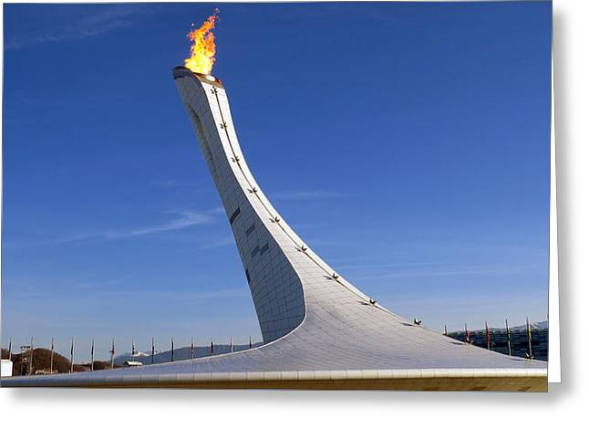 Sochi Cauldron Greeting Card by Craig Bohnert