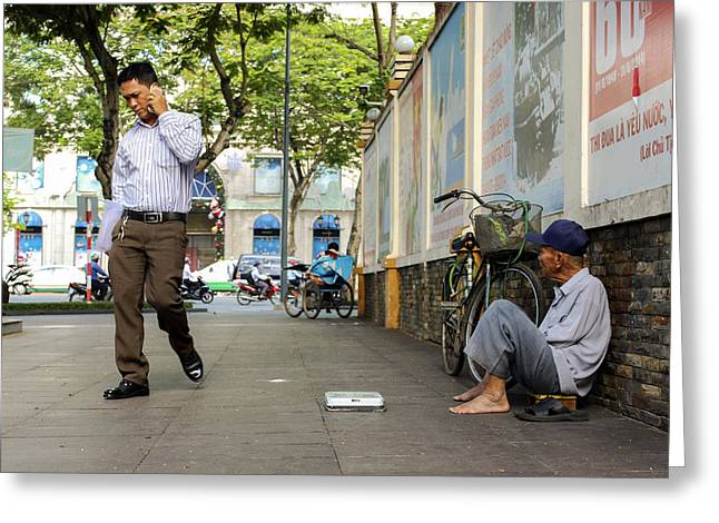 Occupy Greeting Cards - Social Disparity Greeting Card by Nguyen Truc