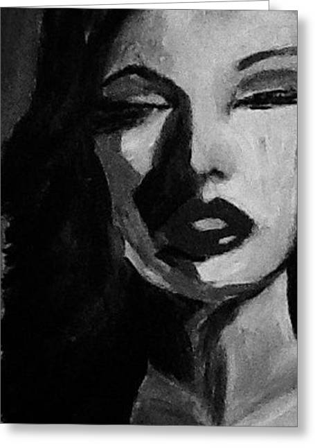 Eyebrow Greeting Cards - Social Graces Of A Syringe - Black And White Greeting Card by Sarah  Rachel