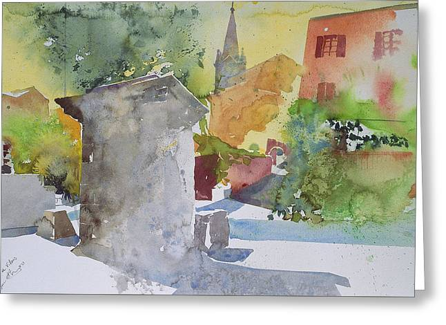 Warm Summer Greeting Cards - Socle a Villars Greeting Card by Simon Fletcher