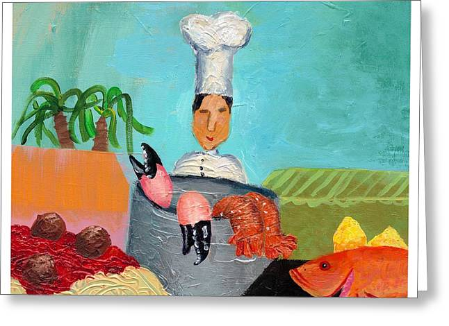 Disability Paintings Greeting Cards - Soflo Chef Greeting Card by Empowered Creative Fine Art