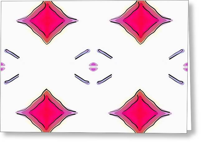 Modern Art Tapestries - Textiles Greeting Cards - Soflty Swiftly Greeting Card by Suzi Freeman