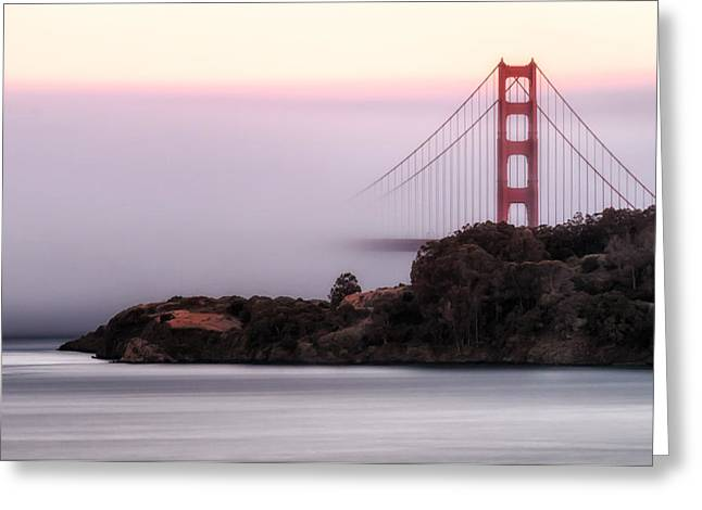 Sausalito Greeting Cards - Soft as Fog Greeting Card by Dan Shehan