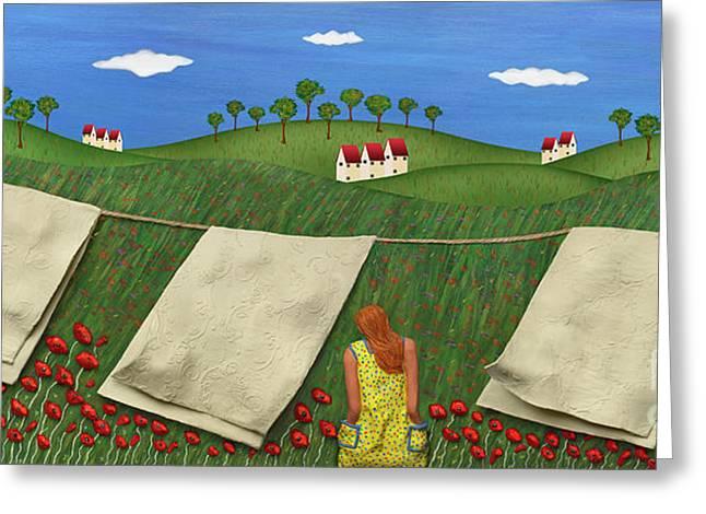Soft Breeze Greeting Card by Anne Klar
