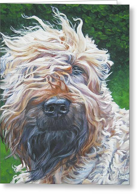 Soft Coated Wheaten Terrier Greeting Card by Lee Ann Shepard