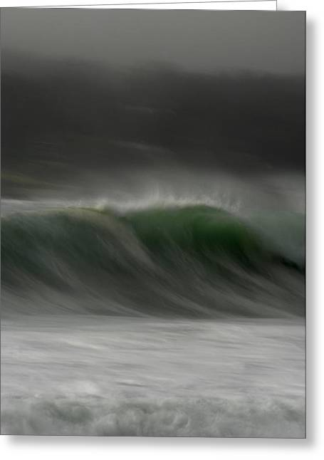 Stormy Ocean Greeting Cards - Soft Curl Greeting Card by Donna Blackhall