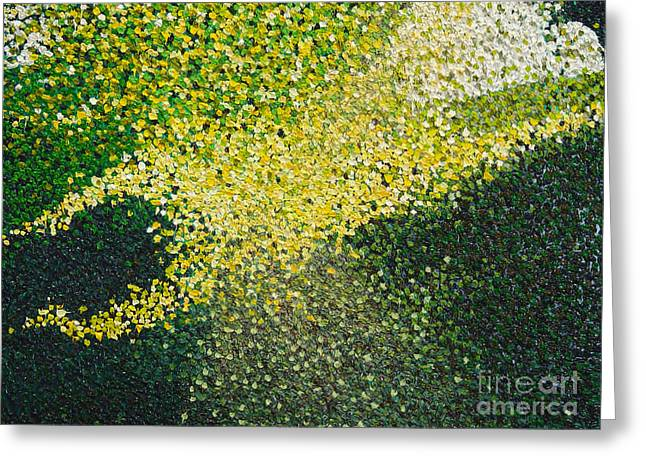 Angel Greeting Cards Greeting Cards - Soft Green Light  Greeting Card by Dean  Triolo