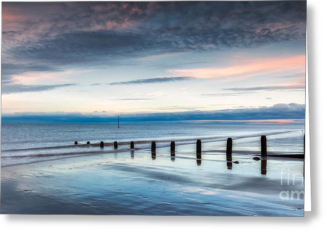 Sundown Greeting Cards - Soft Light Sundown Greeting Card by Adrian Evans