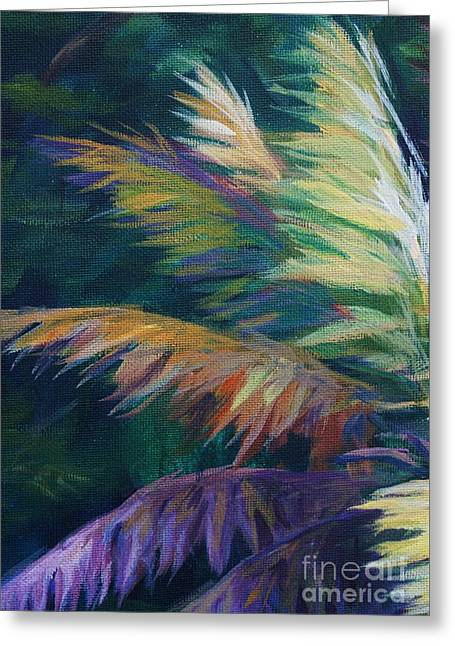 South Sound Greeting Cards - Soft Palm Greeting Card by John Clark
