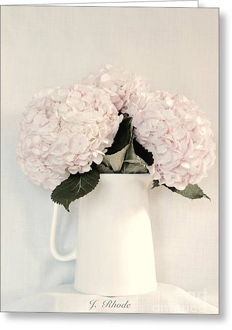Flower Still Life Prints Greeting Cards - Soft Pink Hydrangea Bouquet Greeting Card by Jeannie Rhode Photography