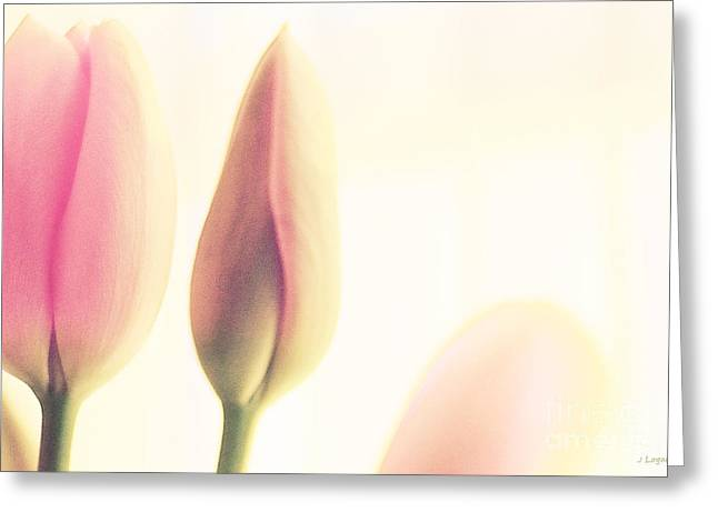 Artography Greeting Cards - Soft Pinks Tulips II Greeting Card by Jayne Logan Intveld