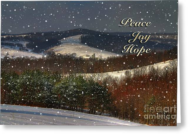 Christmas Greeting Greeting Cards - Soft Sifting Christmas Card Greeting Card by Lois Bryan