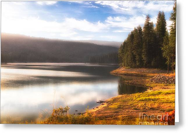 Sierra Gold Greeting Cards - Soft Sunrise Greeting Card by Anthony Bonafede