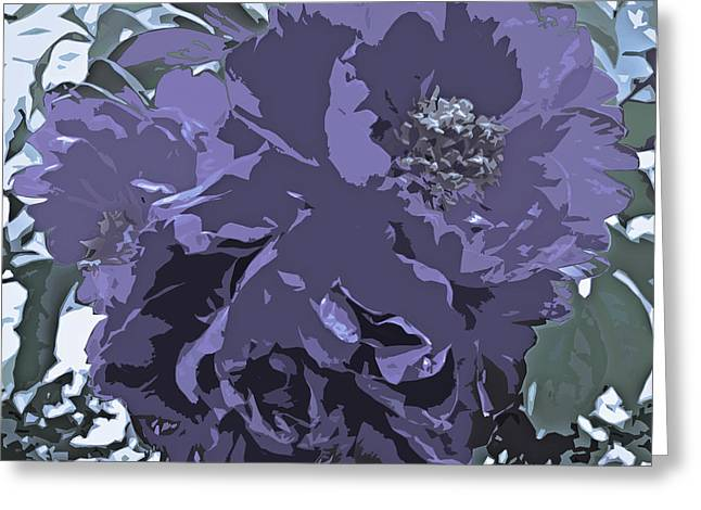 Subtle Colors Greeting Cards - Soft Tone Floral Abstract Lavender Greeting Card by Adri Turner