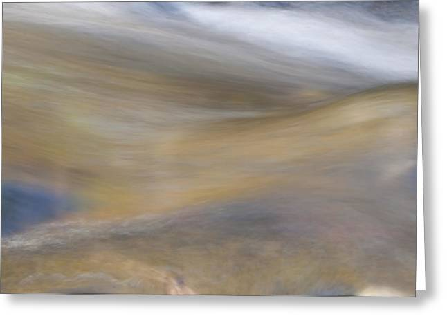 Stream Greeting Cards - Soft Water Greeting Card by Maria Coulson
