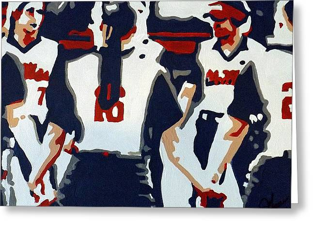 Softball Paintings Greeting Cards - Softball Sisterhood Greeting Card by Steve Cochran