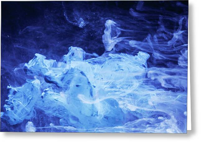 Softer Than Rain - Fine Art Photography - Paint Pouring Greeting Card by Modern Art Prints