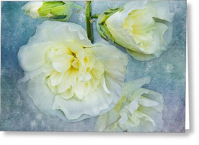 Art In Squares Greeting Cards - Softly in Blue Greeting Card by Betty LaRue