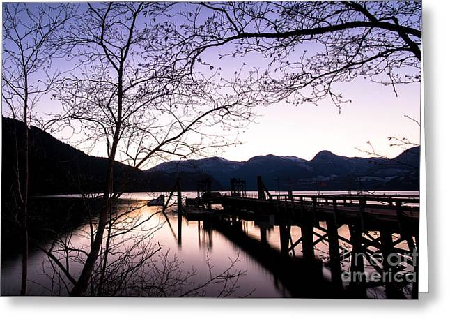 Scenic Greeting Cards - Softwood Pier Greeting Card by Jon Olmstead