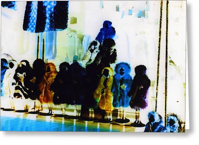 Soho Shop Window Greeting Card by Karin Kohlmeier