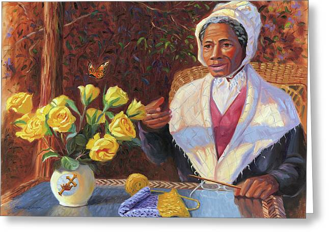 Abolitionist Paintings Greeting Cards - Sojourner Truth Greeting Card by Steve Simon