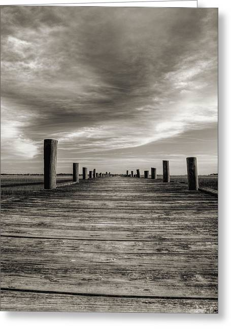 Sol Greeting Cards - Sol Legare Dock Greeting Card by Dustin K Ryan