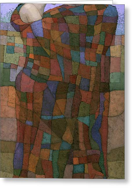 Cubist Paintings Greeting Cards - Solace Greeting Card by Steve Mitchell