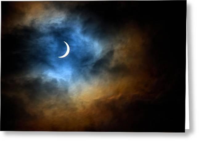 Solar Eclipse 2015 Greeting Card by Tim Haynes