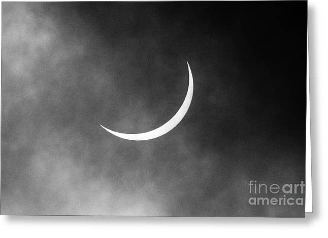 Partial Greeting Cards - Solar eclipse as seen from ireland Greeting Card by Joe Fox