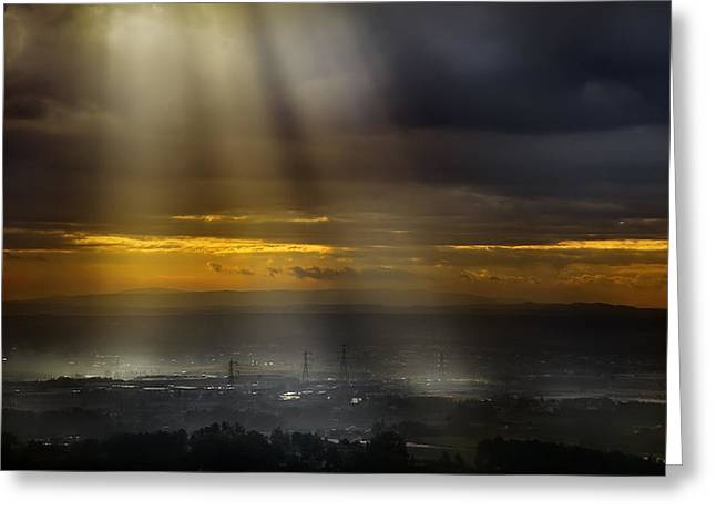 Light Rays Greeting Cards - Solar Energy Greeting Card by Antonio Grambone