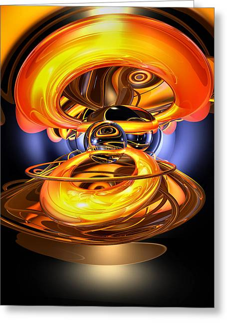 Solar Flare Greeting Cards - Solar Flare Abstract Greeting Card by Alexander Butler