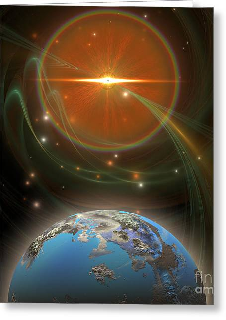 Solar Message Greeting Card by Corey Ford