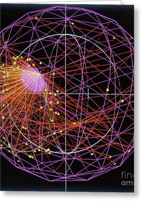 Geodesic Greeting Cards - Solar Neutrino Event, Sudbury Neutrino Greeting Card by Science Source