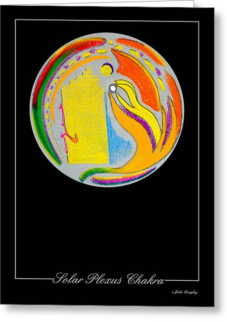 Healing Pastels Greeting Cards - Solar Plexus Chakra Greeting Card by John Quigley