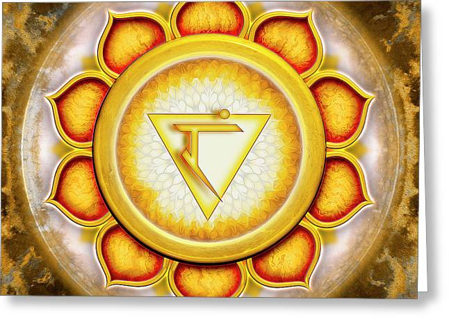 Solar Plexus Chakra - Series 5 Greeting Card by Dirk Czarnota