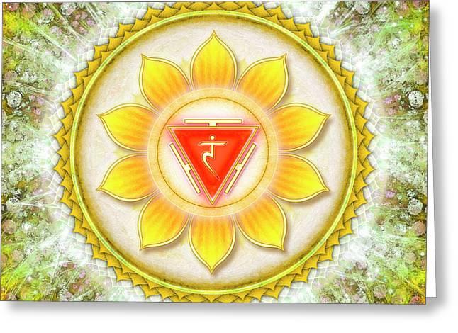Solar Plexus Chakra - Series 6 Greeting Card by Dirk Czarnota