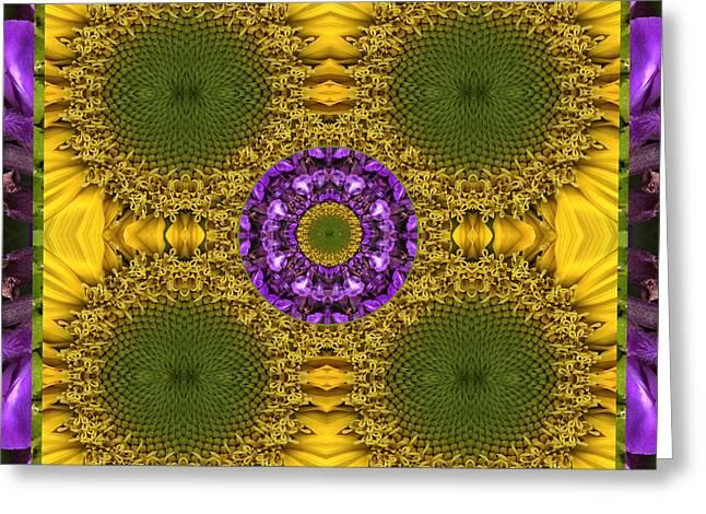 Purple Chakra Greeting Cards - Solar Sage Greeting Card by Bell And Todd