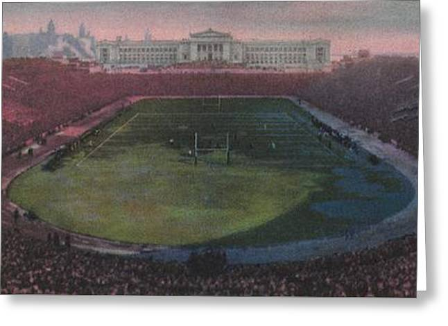 Turf Greeting Cards - Soldier Field Greeting Card by American School